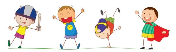 Enfants plaine 2 - fond transparent